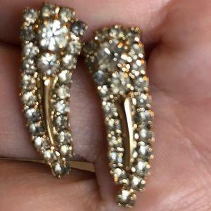 Vintage evening post earrings